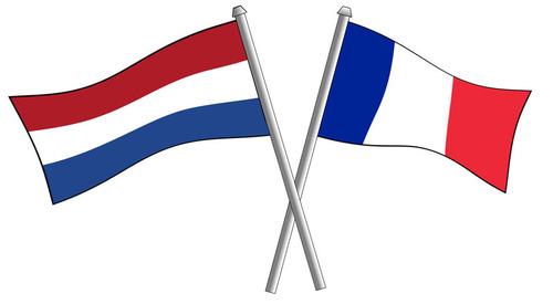 フランスとオランダ国旗の枕01