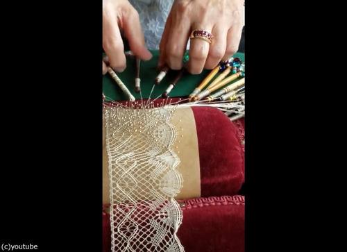 伝統的レースの編み方01