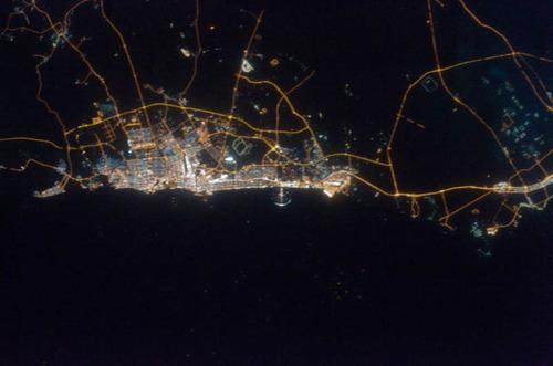 ISSから見た夜景26
