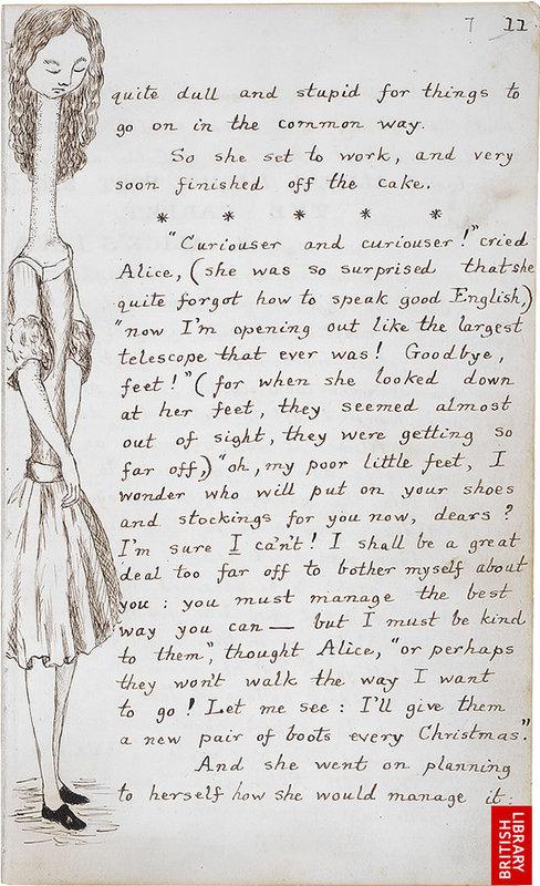 「不思議の国のアリス」のオリジナル原稿02