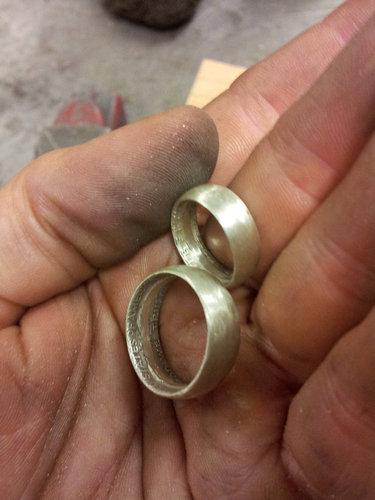コインから作ったリング21