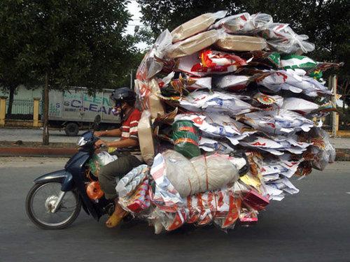 バイクで物を運ぶ限界17