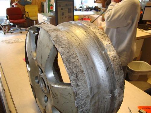 タイヤがパンク01