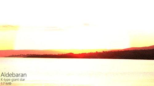夕日を太陽以外の恒星にしたら11