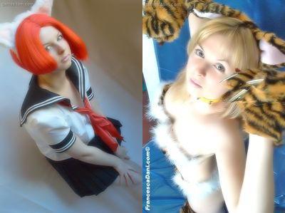 コスプレ_ セーラー服と猫