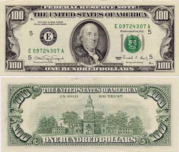 過去150年で100ドル札のデザイン ...