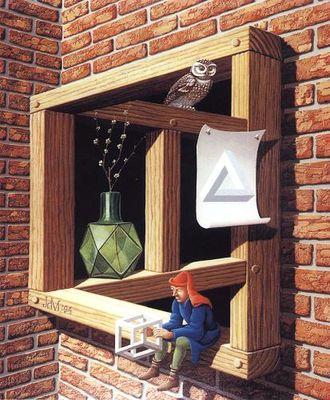 遠近法を駆使した目の錯覚アート02