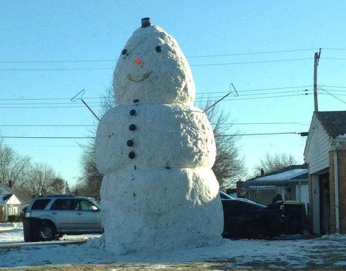 今まで一番でかい雪だるま02