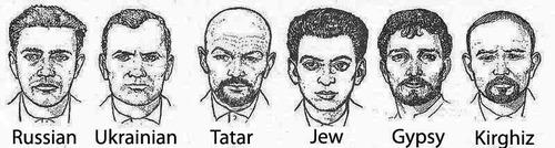 ソ連が使っていた人種別スケッチ01-1