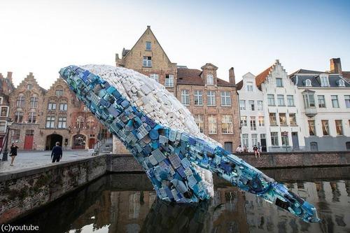 海洋ゴミで作った巨大クジラ07