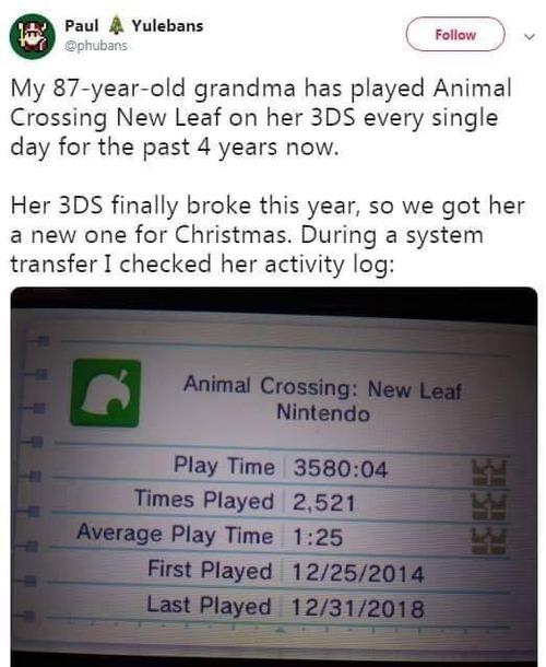 どうぶつの森を4年間毎日プレイする87歳01
