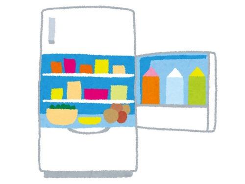 冷蔵庫を開けようとしたら…手が繋がってない