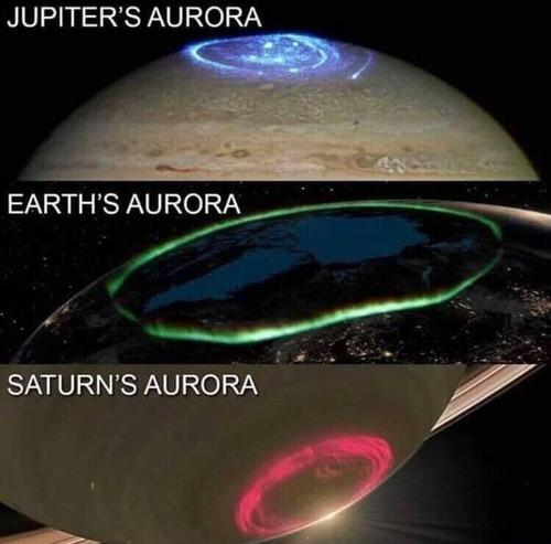 各惑星のオーロラ01