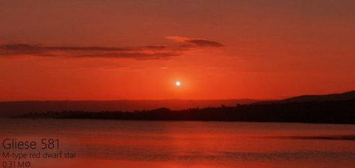 夕日を太陽以外の恒星にしたら03