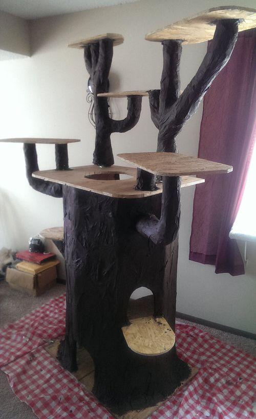 手作りキャットタワー11