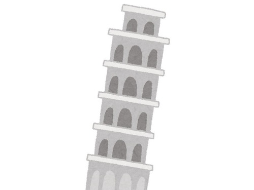 ピサの斜塔の新しい写真の撮り方
