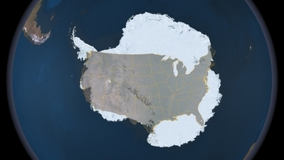 南極大陸vsアメリカ合衆国