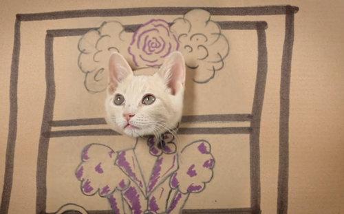 ダンボール猫アート04