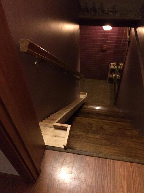 犬のために階段を作った01