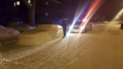 車の雪像に駐禁04