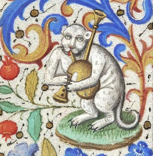 中世の絵画に登場する「猫」05
