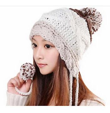 8b11ab5f92ccb4 選べる5色】かわいい ざっくり編み ニット帽 耳 まで 暖かい 冬の寒さも ...