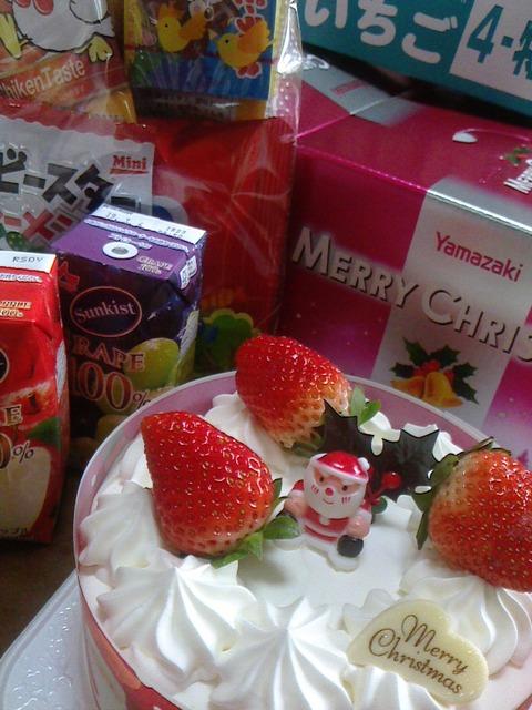 クリスマスケーキ4号いちご