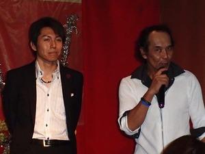 カラオケりィなのマスター加納さんと岩出和也さん