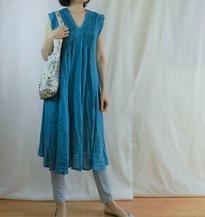 turquoise v dress