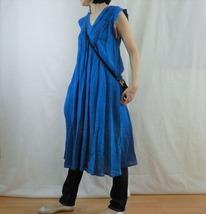 blue v dress & denim
