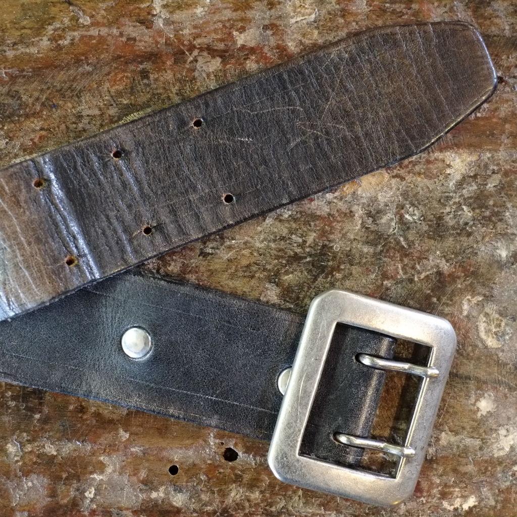 Cowhide leather belt