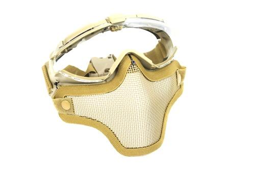 ハーフメッシュマスクを取付け