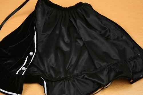 スカートを開いた状態