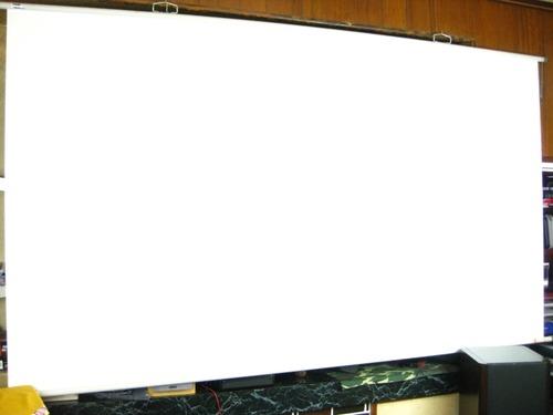 オーエスの100インチワイドスクリーンMT100HN