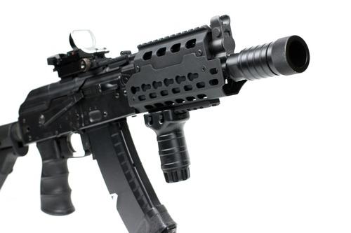次世代AKS74U Keymodレイルハンドガード