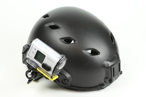 ミリタリー系ヘルメットに取り付け