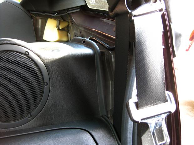 シートベルトが隠れているパネル部分