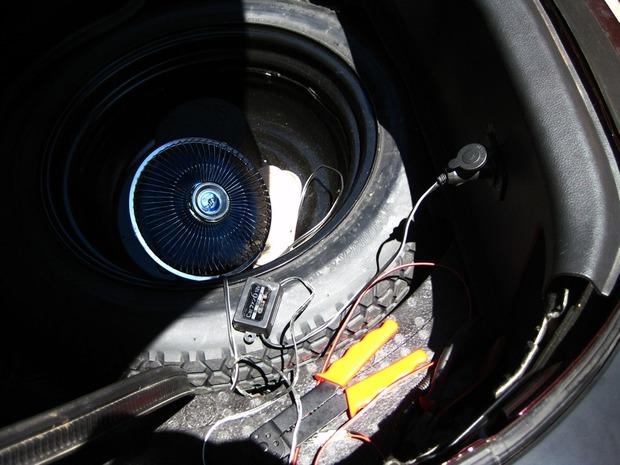 12V扇風機を使ってテスト
