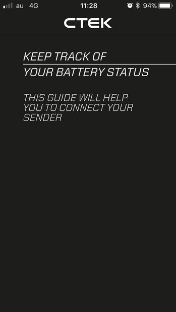 01 BATTERY SENSEアプリを起動