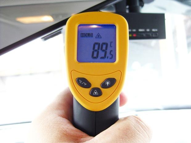 ドライブレコーダーの本体温度は89.5度