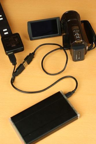 USB Y字ケーブルを使用して安定化させる