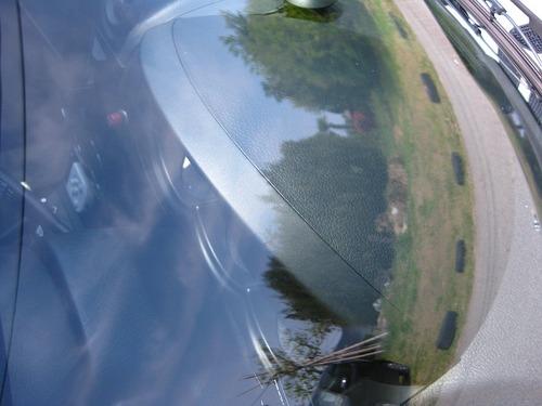 洗車後のフロントガラス