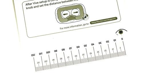 説明書に計測目盛