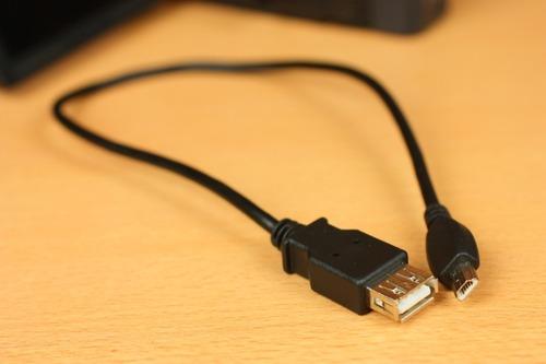 USB miniAオスコネクタ-USB Aメスコネクタ