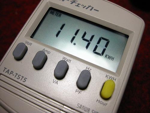 どれだけ電気を消費したか分かる