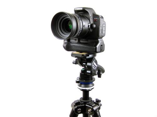 Canon EOS kissx7iを雲台に載せて