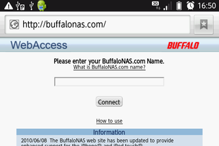 IS03でNASにアクセス、何故か英語のページ