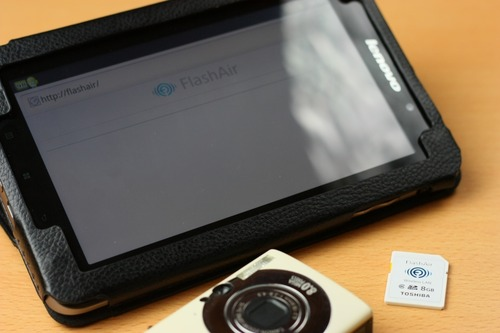 FlahAirとAndroidタブレット