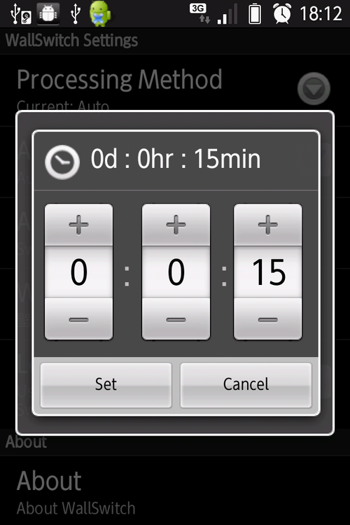 Auto-Switch Intervalで変更する時間を設定