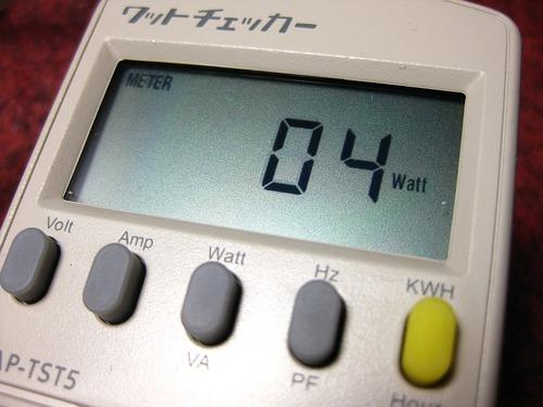 メインパソコン待機電力